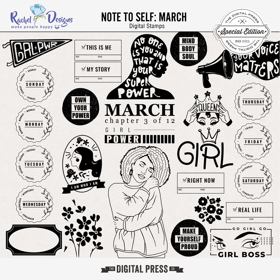 Note To Self March | Stamps