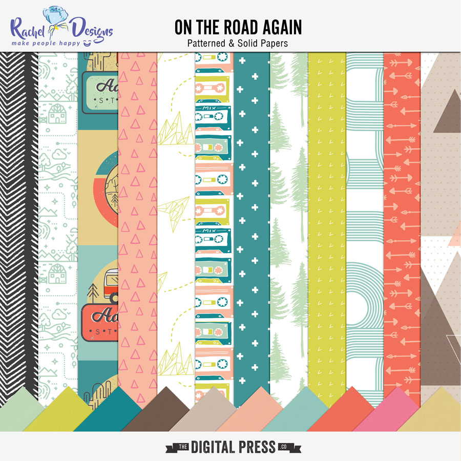 On The Road Again | Papers Pack