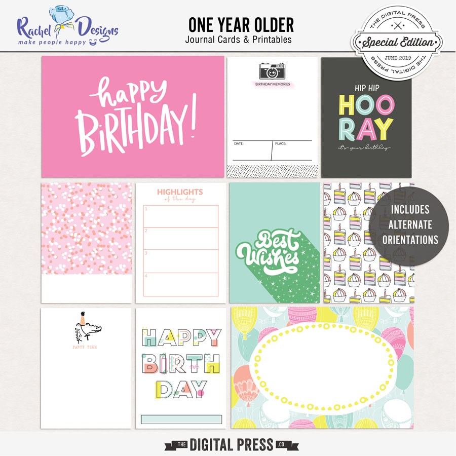One Year Older | Journal Cards