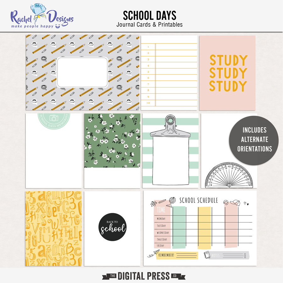 School Days | Pocket Cards
