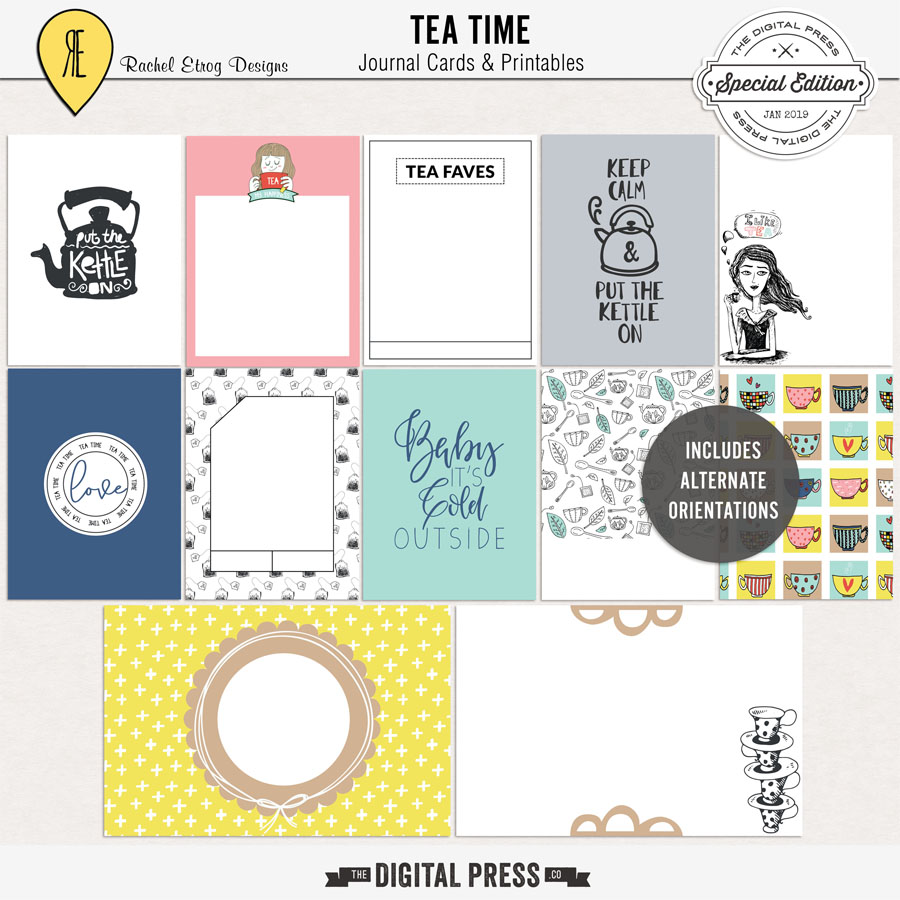 Tea Time | Journal Cards