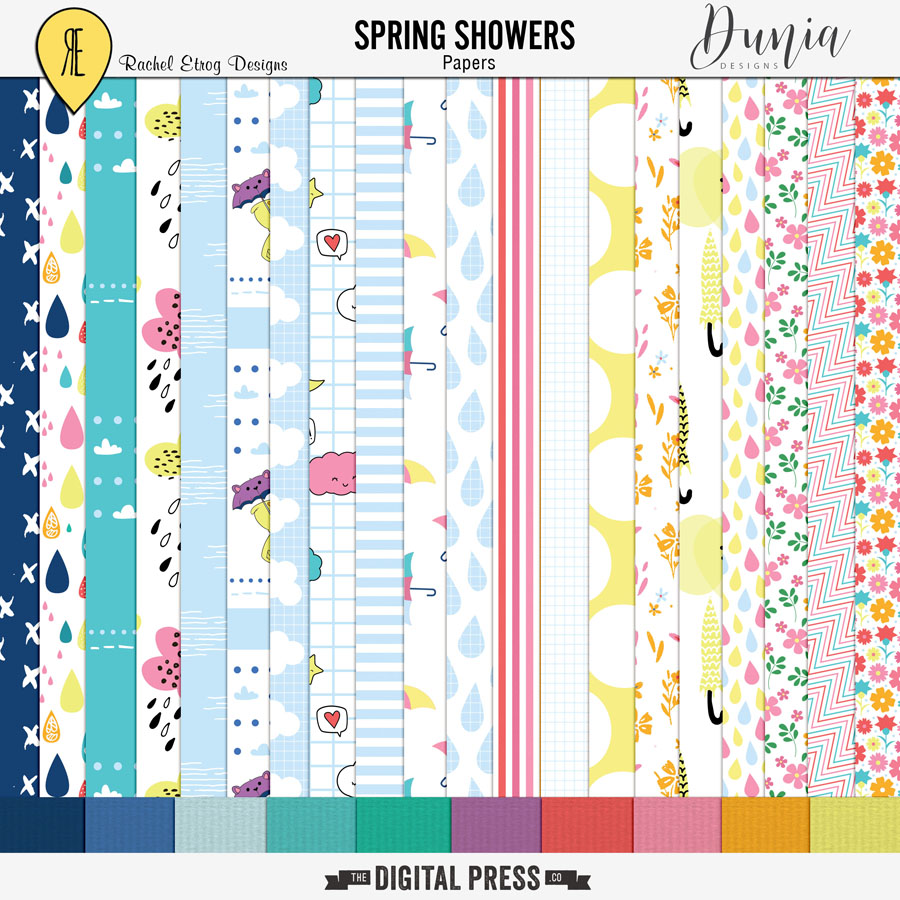 Spring Showers Collab | Papers