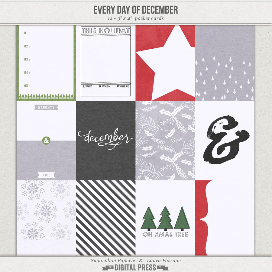 Every Day of December | 3x4 Cards