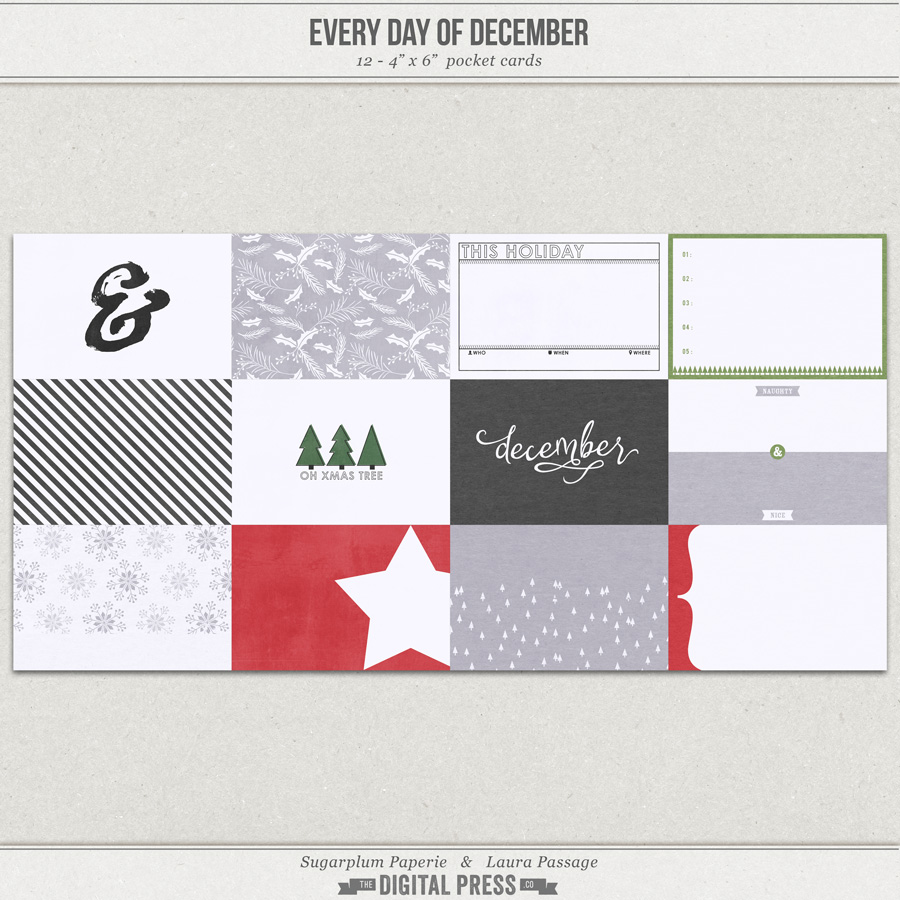 Every Day of December | 4x6 Cards