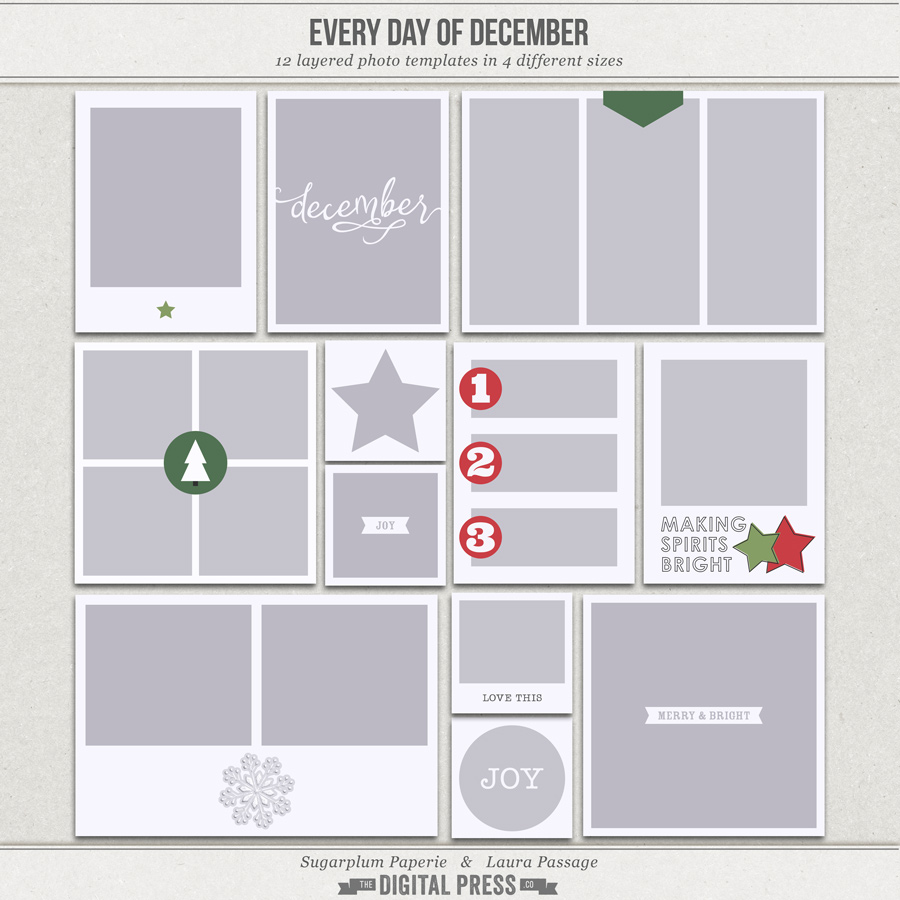 Every Day of December | Photo Templates