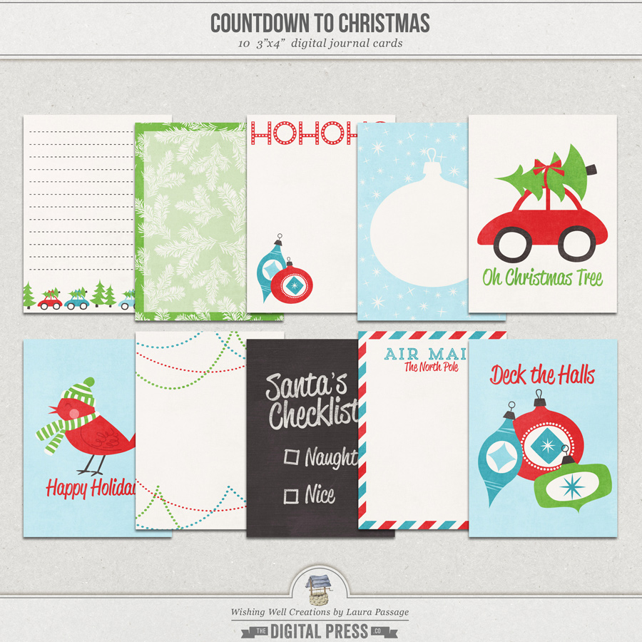 Countdown To Christmas   Journal Cards