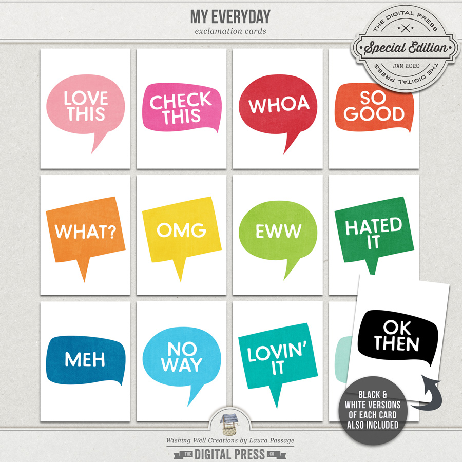 My Everyday | Exclamation Cards