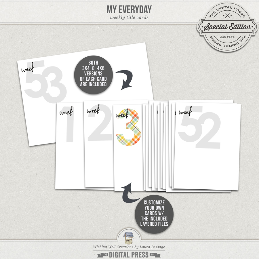 My Everyday   Weekly Cards & Templates