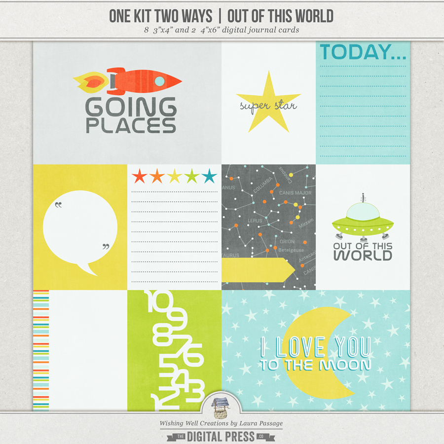 One Kit Two Ways: Out Of This World | Journal Cards