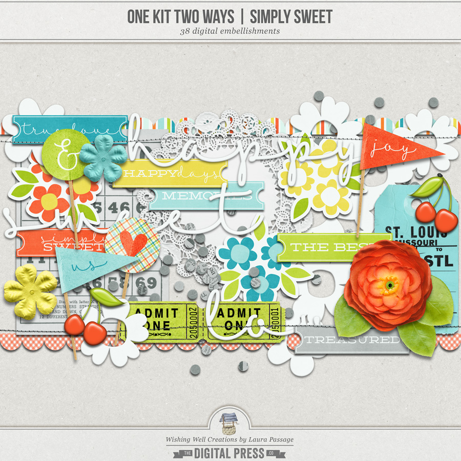 One Kit Two Ways: Simply Sweet   Elements
