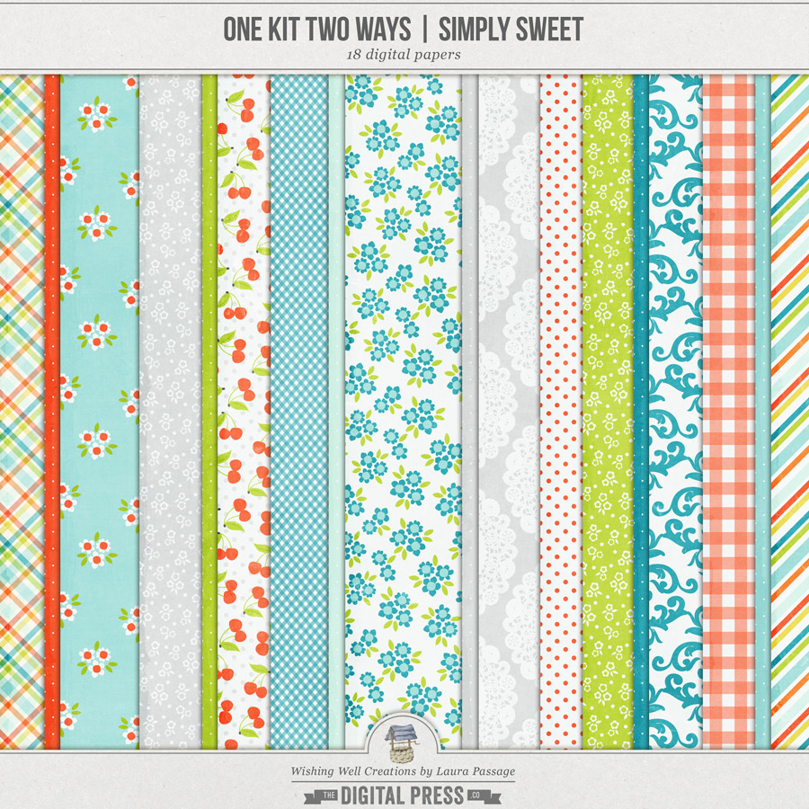 One Kit Two Ways: Simply Sweet | Paper