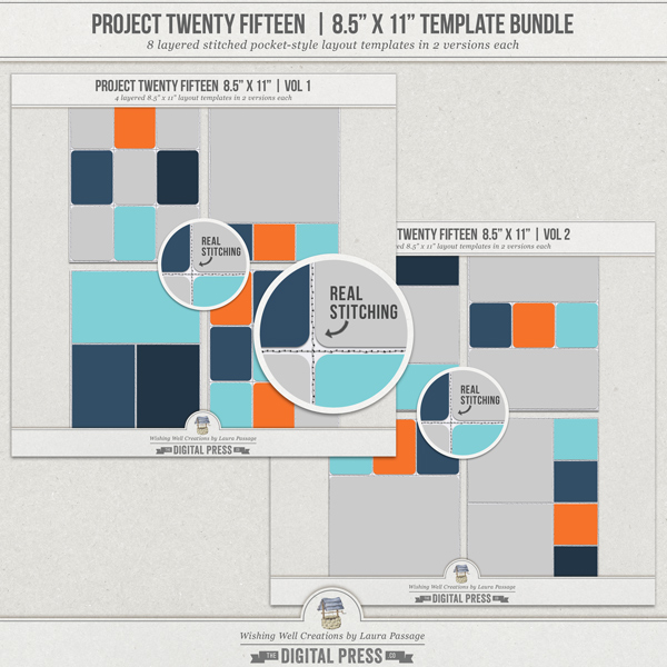 "Project Twenty Fifteen | 8.5""x11"" Template Bundle"