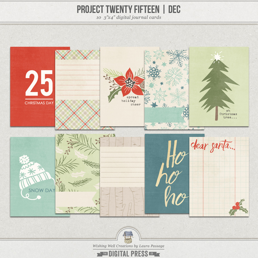 Project Twenty Fifteen | December 3x4 Journal Cards