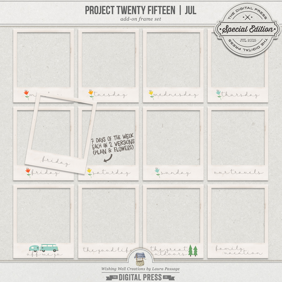 Project Twenty Fifteen | July Add-On Frames