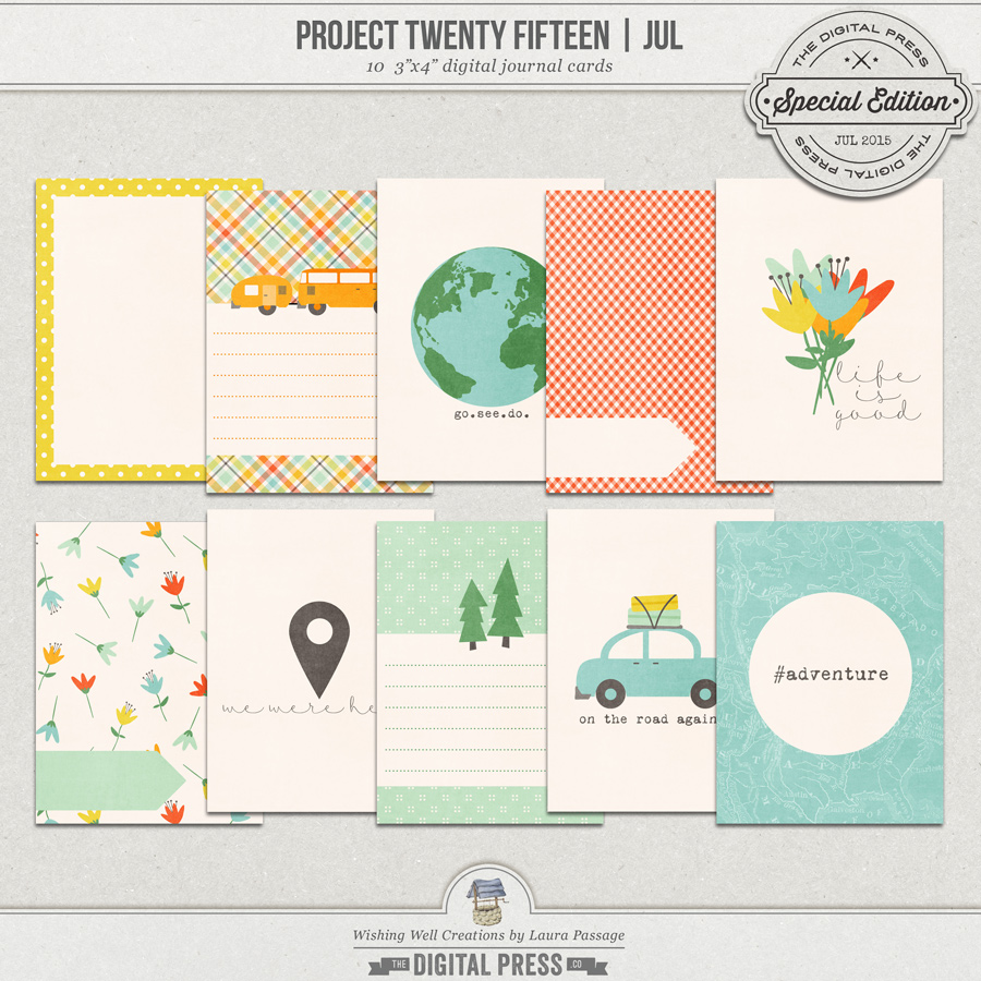 Project Twenty Fifteen | July 3x4 Journal Cards