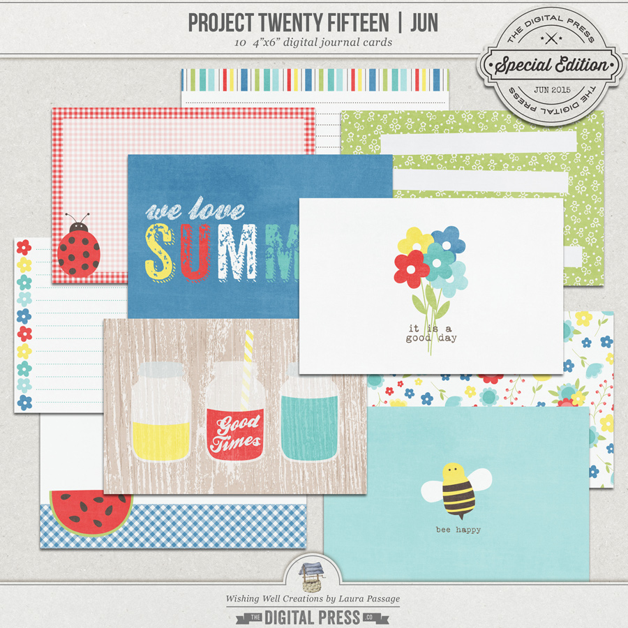 Project Twenty Fifteen | June 4x6 Journal Cards