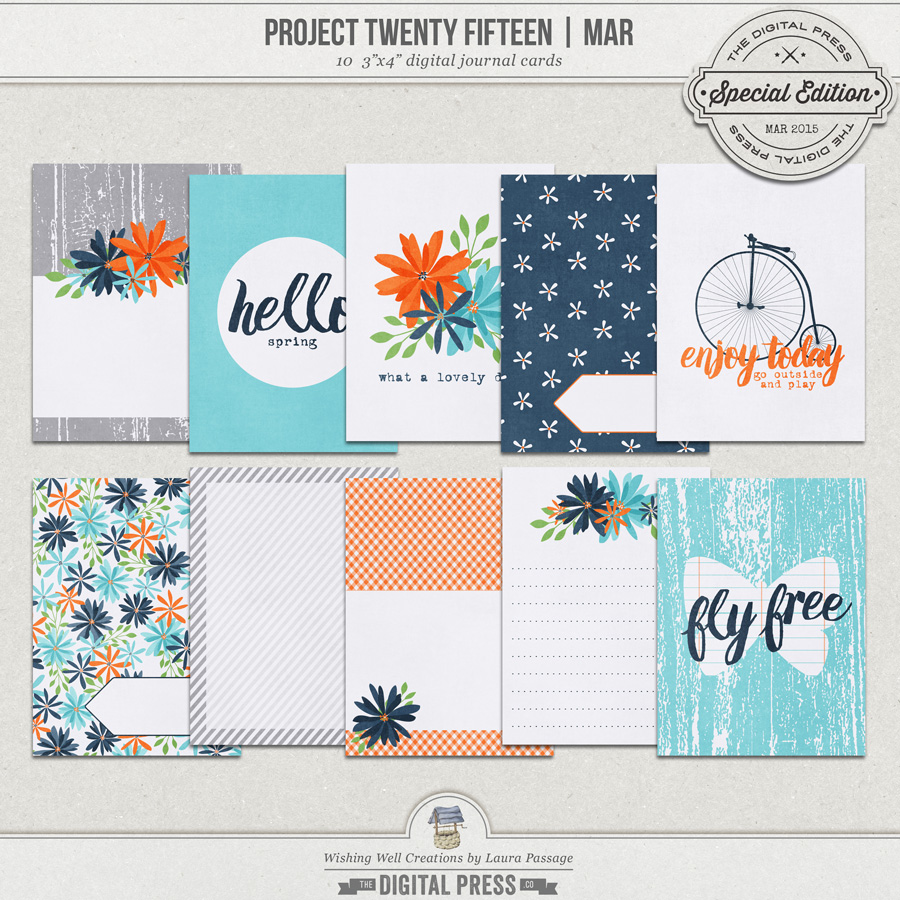 Project Twenty Fifteen | March 3x4 Journal Cards