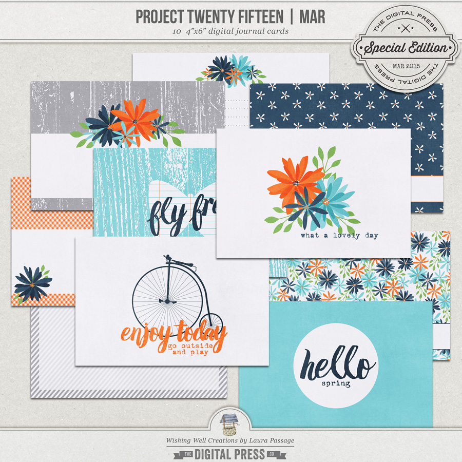 Project Twenty Fifteen | March 4x6 Journal Cards