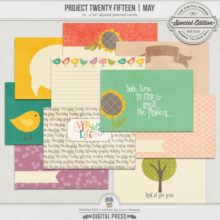 Project Twenty Fifteen | May 4x6 Journal Cards