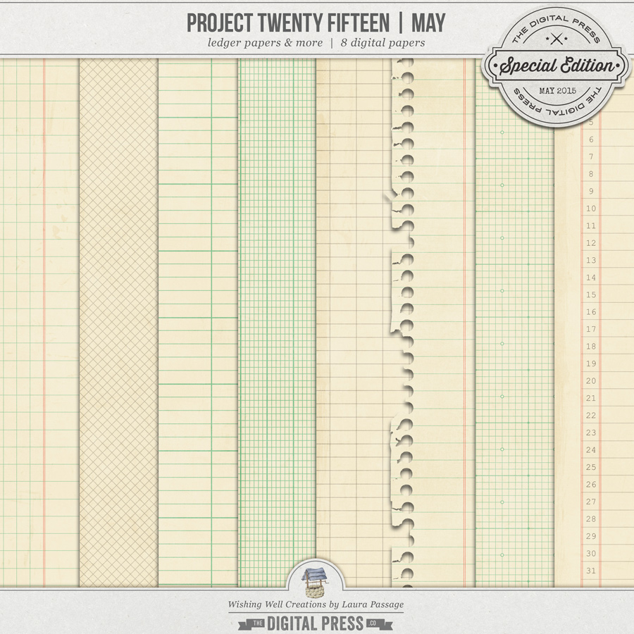 Project Twenty Fifteen | May Ledger Paper, etc.