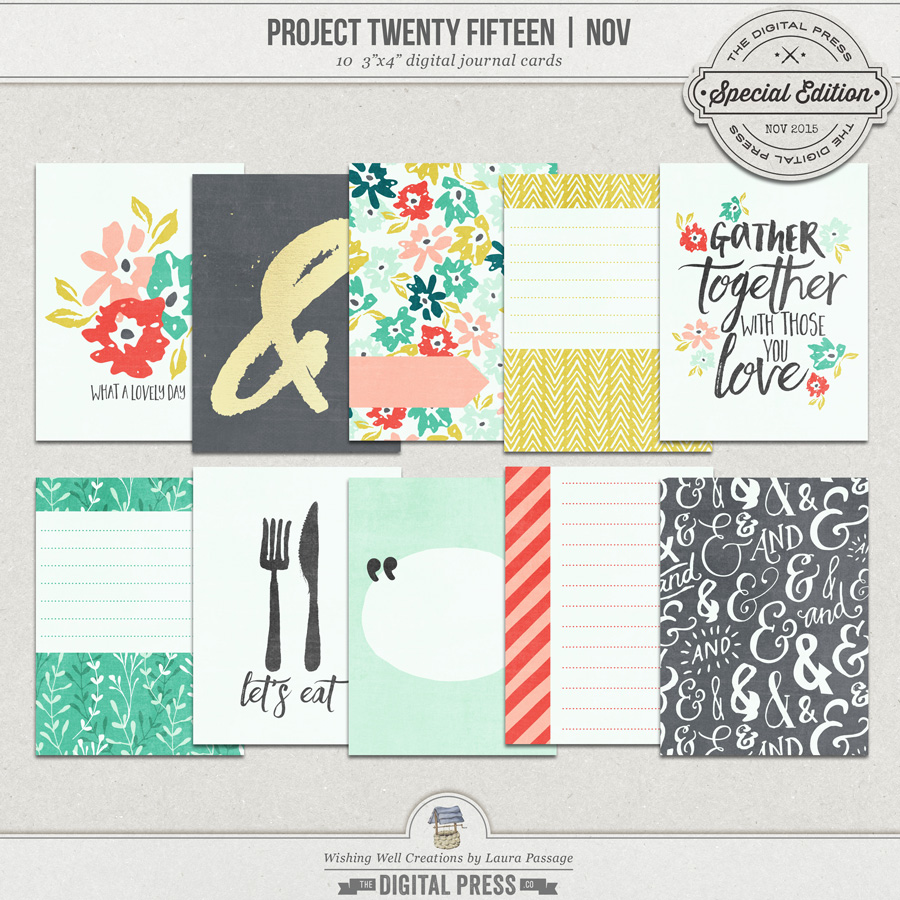 Project Twenty Fifteen | November 3x4 Journal Cards