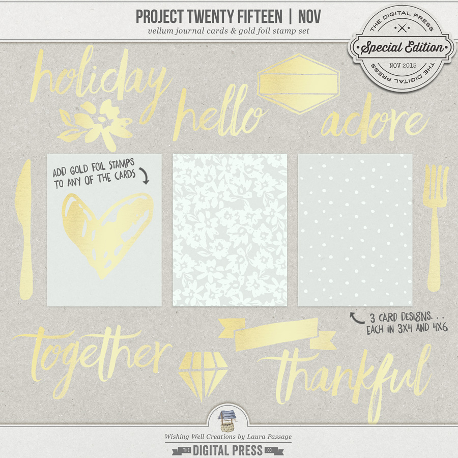Project Twenty Fifteen | November Vellum & Gold Add-On