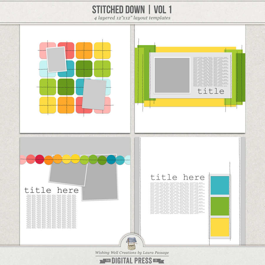 Stitched Down (Volume 1) | Templates