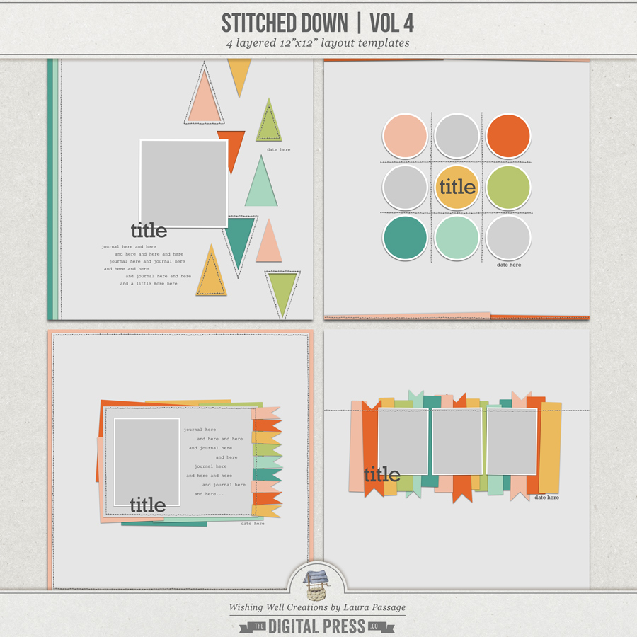 Stitched Down (Volume 4)   Templates