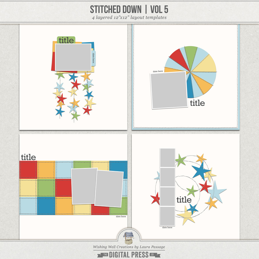 Stitched Down (Volume 5) | Templates