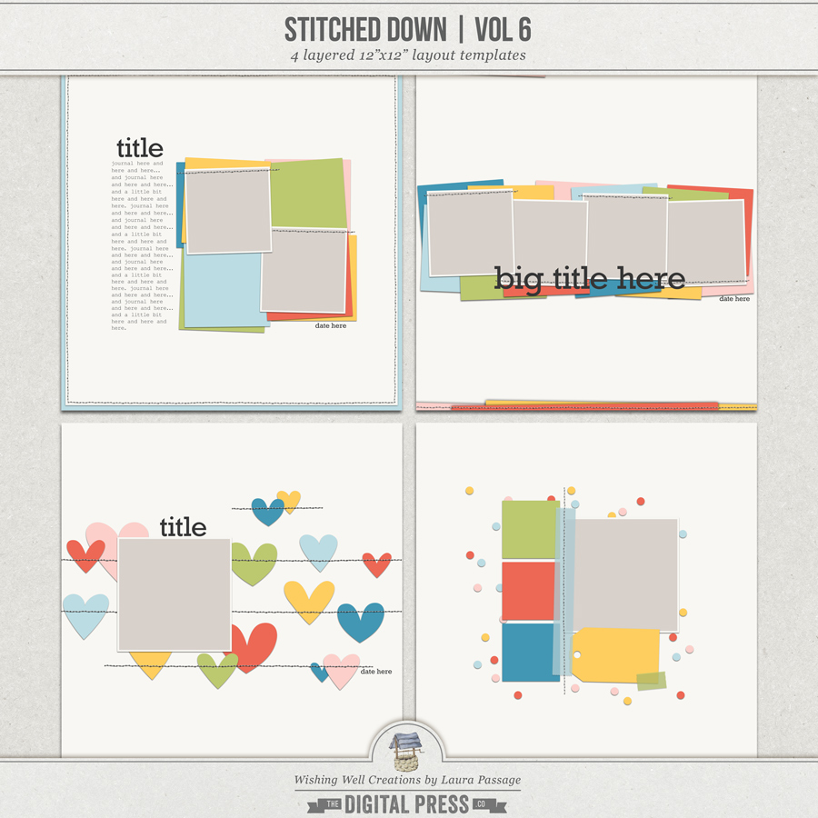 Stitched Down (Volume 6) | Templates