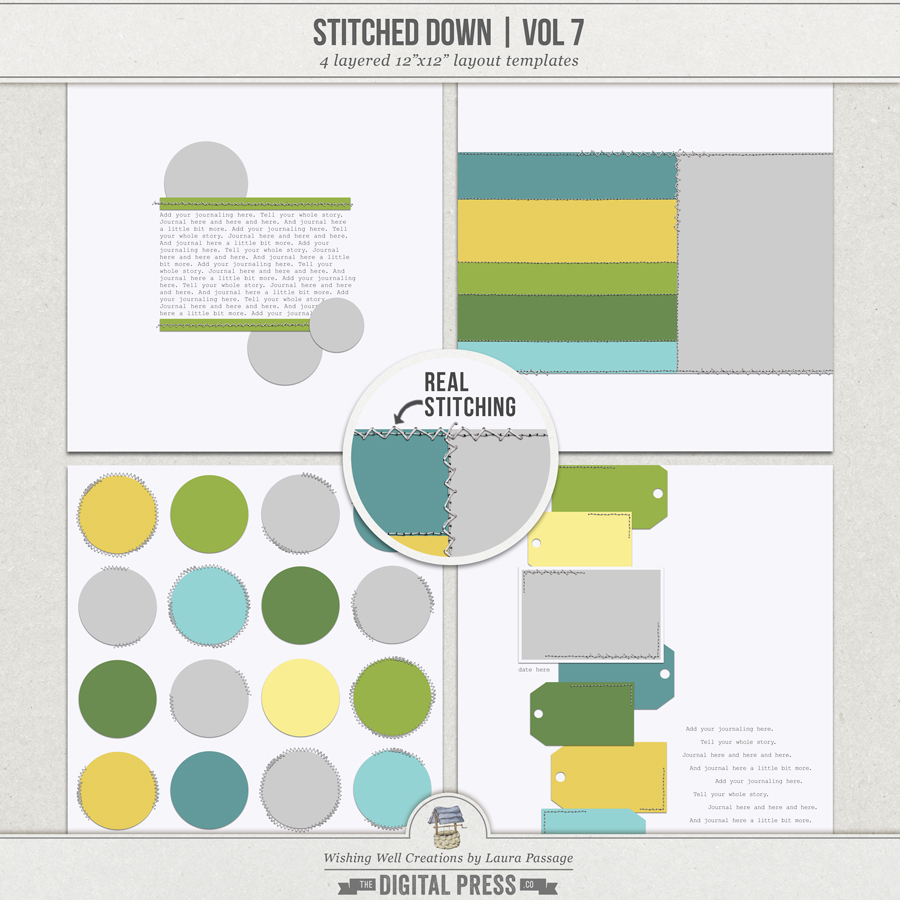 Stitched Down (Volume 7) | Templates