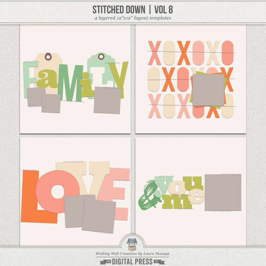 Stitched Down (Volume 8) | Templates