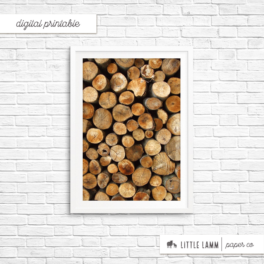 Firewood | Printable Home Decor