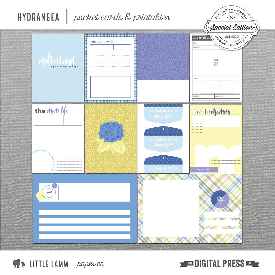 Hydrangea   Pocket Cards and Printables