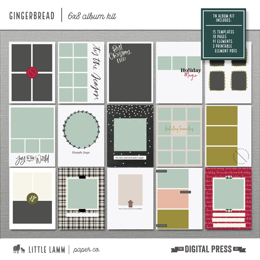 Gingerbread | 6x8 Album Kit