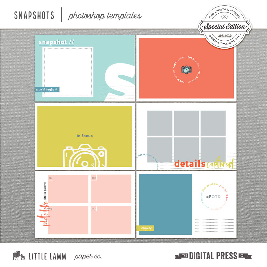 Snapshots | Photoshop Templates