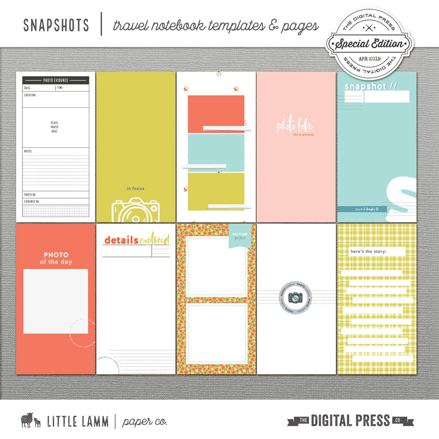 Snapshots | Travel Notebook Templates
