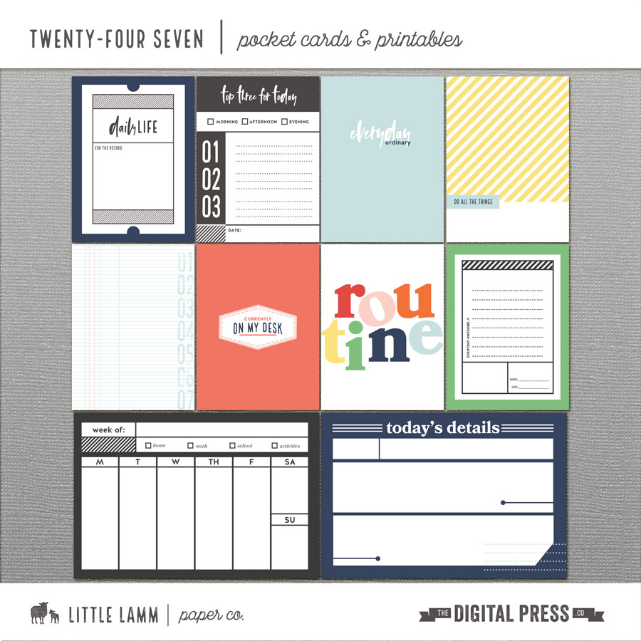 Twenty-Four Seven | Pocket Cards and Printables