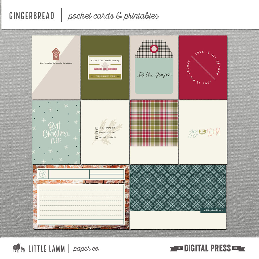 Gingerbread | Pocket Cards and Printables