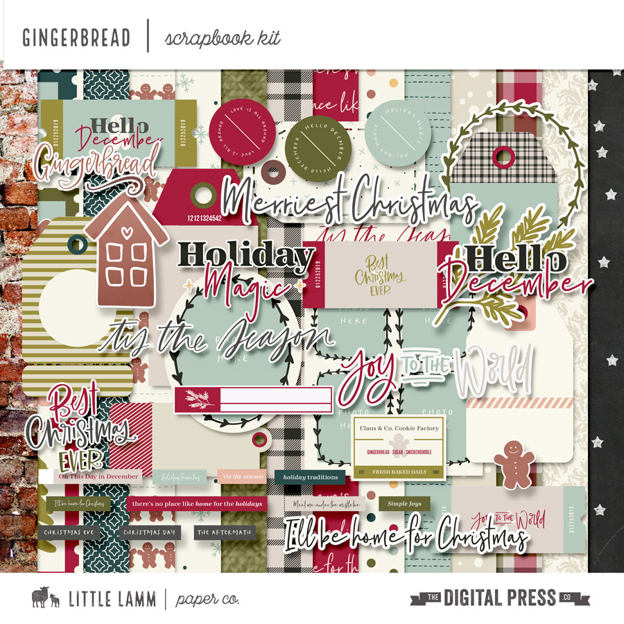 Gingerbread | Scrapbook Kit