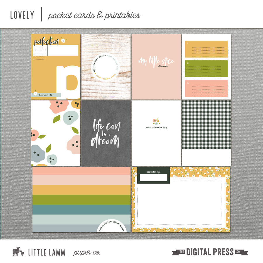 Lovely | Pocket Cards and Printables
