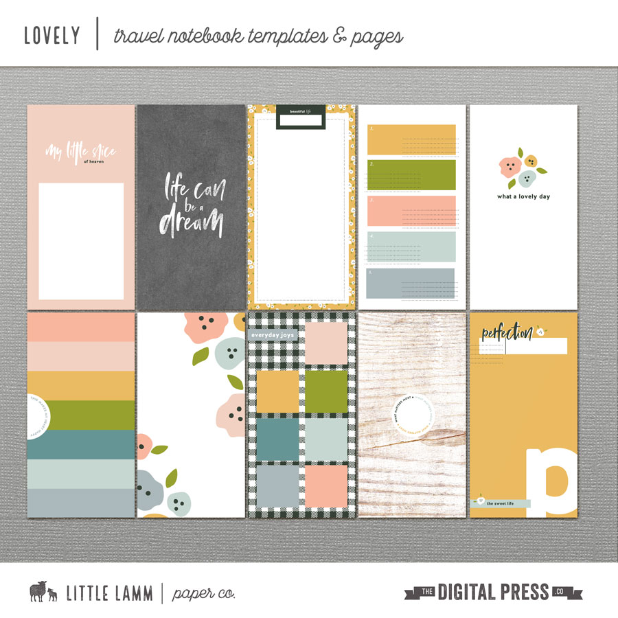Lovely | Travel Notebook Templates