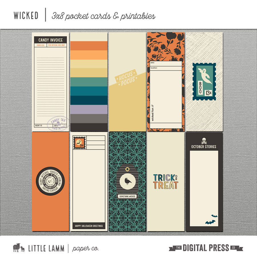 Wicked│3x8 Pocket Cards and Printables