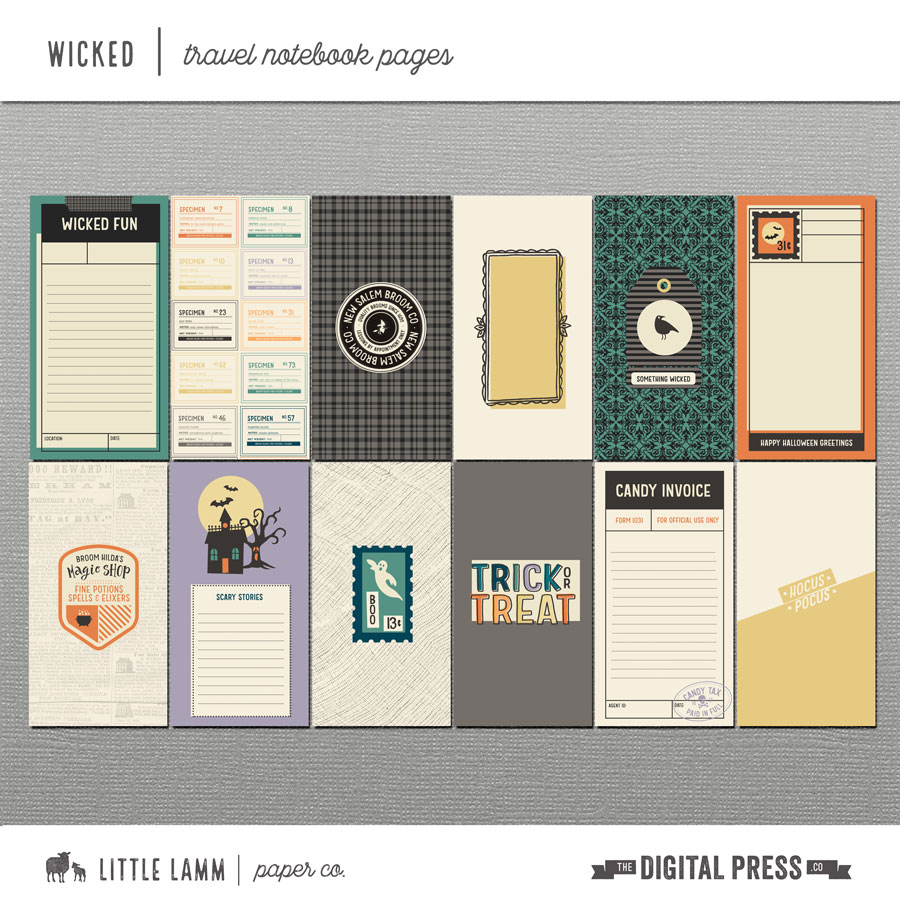Wicked│Travel Notebook Pages and Printables