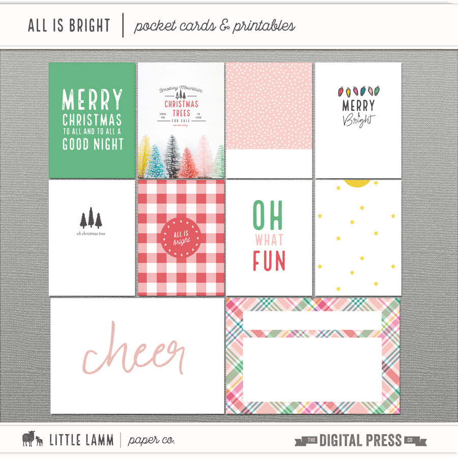 All Is Bright | Pocket Cards & Printables