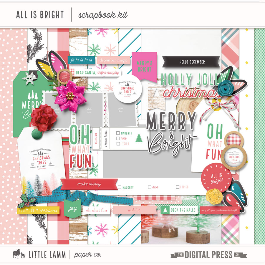 All Is Bright | Scrapbook Kit