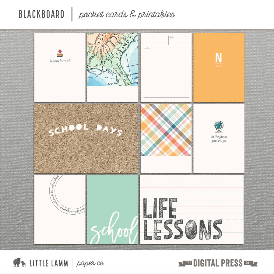 Blackboard | Pocket Cards & Printables
