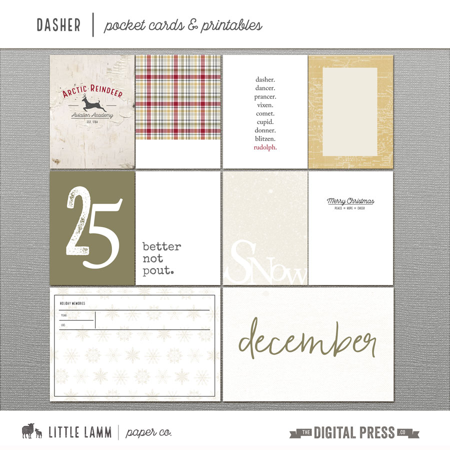 Dasher | Pocket Cards and Printables