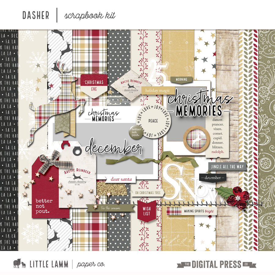 Dasher | Scrapbook Kit