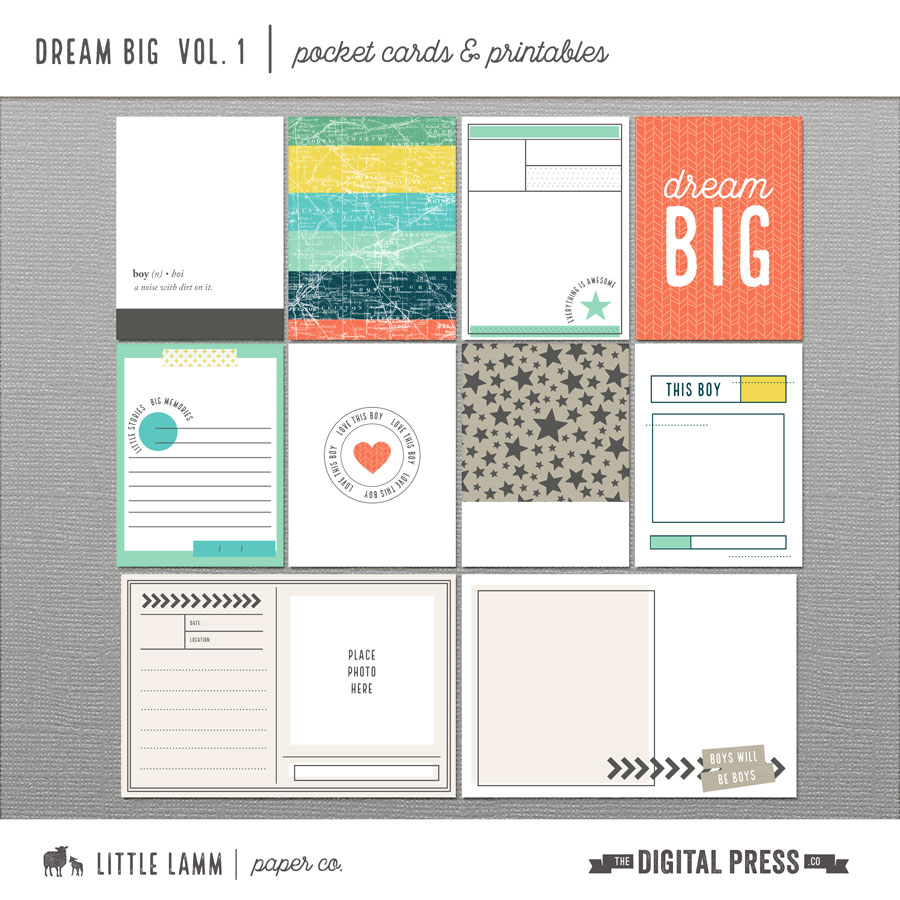 Dream Big | Pocket Cards and Printables Vol 1